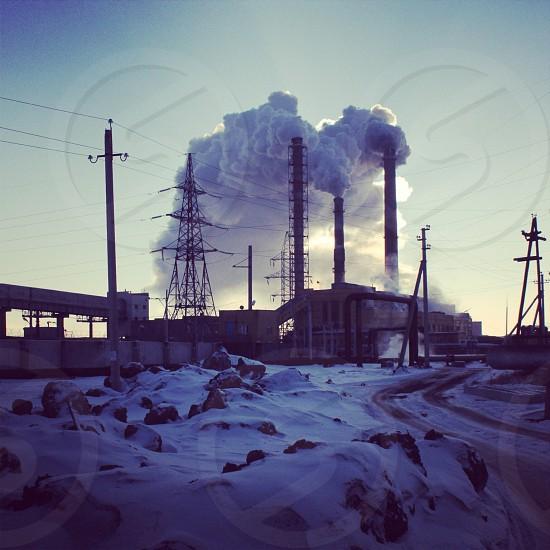 white power plant photo