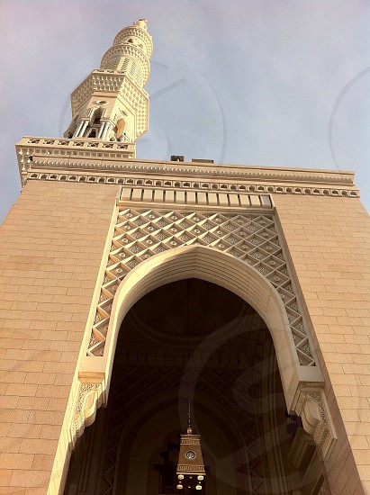 Minaret Prophets mosque Madinah photo
