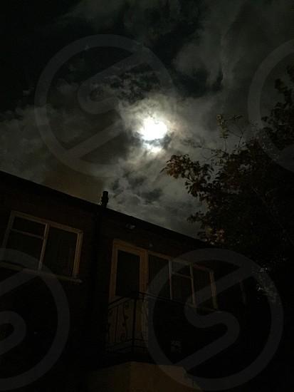 Moon night spooky photo