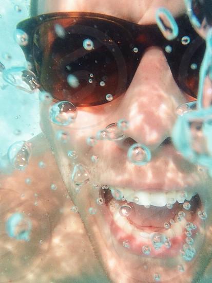 Underwater sunglasses photo