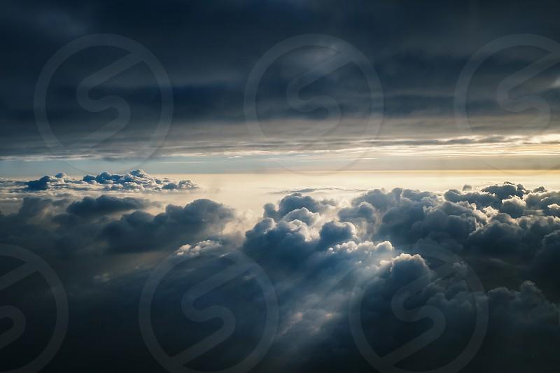 Plane Travel Clouds Sky Blue Sunrise photo