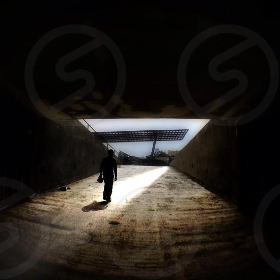 cement underground lot photo