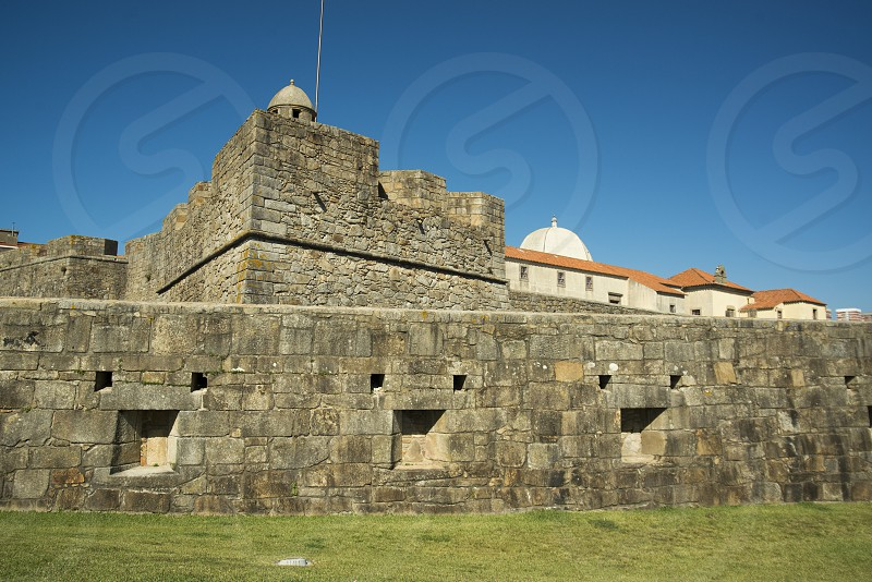 the castelo de queijo on the coast in the city centre of Porto in Porugal in Europe. photo