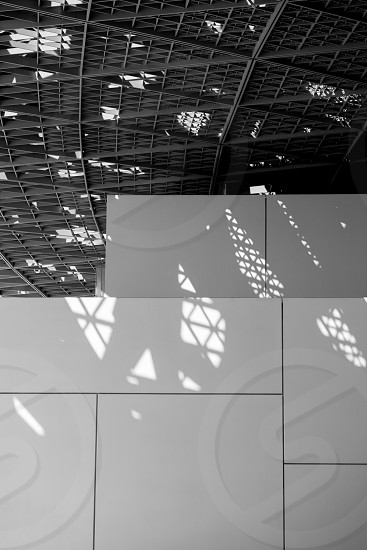 Shadows formed by the unique roof structure of the Lourve Abu Dhabi photo