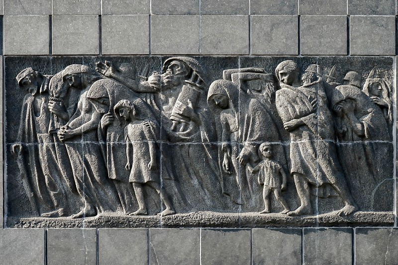 Eastern side Monument to the 70th Anniversary of the Warsaw Ghetto Uprising in Warsaw photo