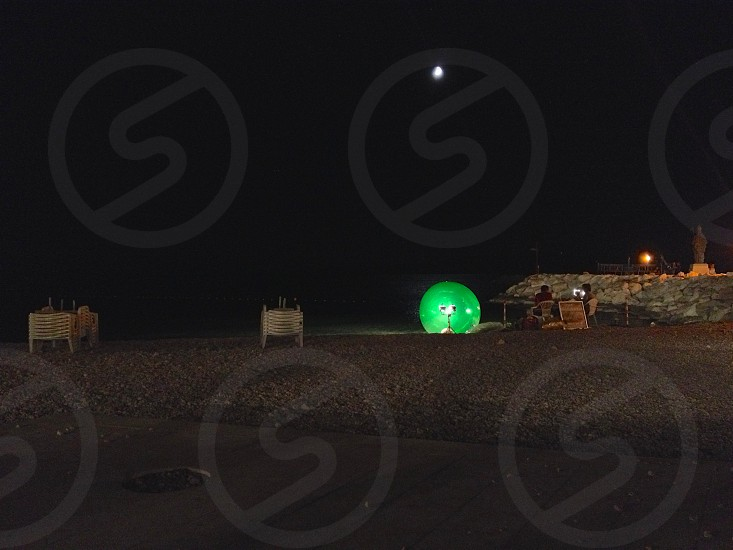Green ball on the beachBaska VodaCroatia photo