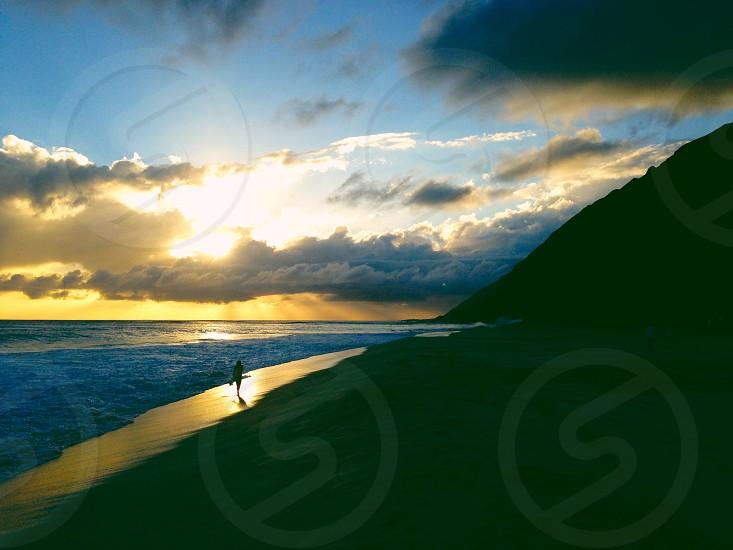 Oahu Hawaii Surfing Sunset Beach Adventure Travel photo