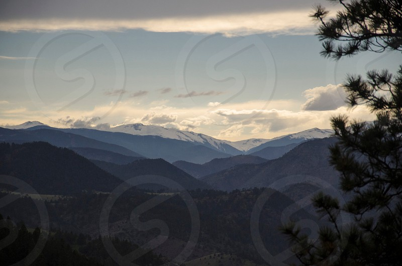 snow capped mountains photo