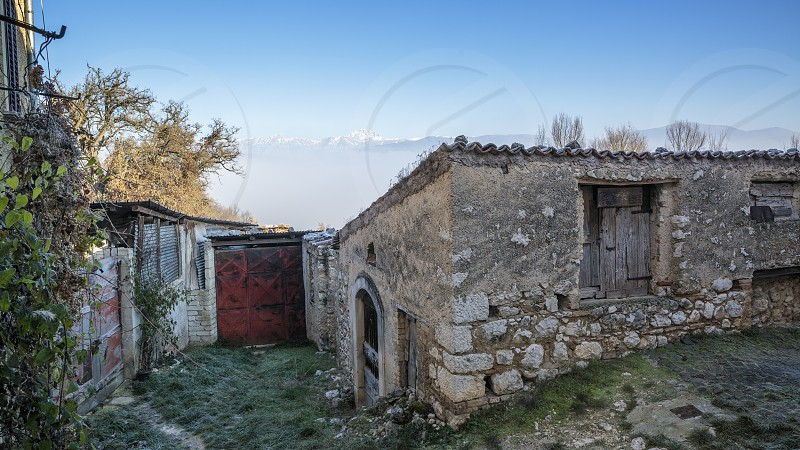 Casentino Abruzzo Italy Appennini Gran Sasso Mountain Farm House photo