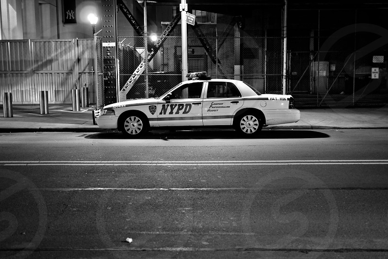 NYPD. Police. Street. Manhattan. NYC.  photo