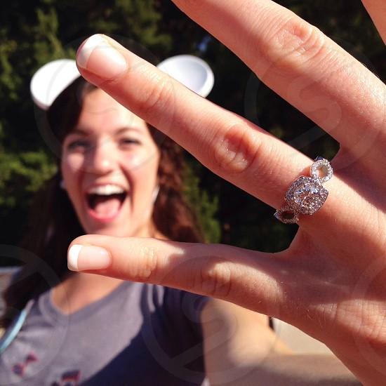 diamond platinum engagement ring photo