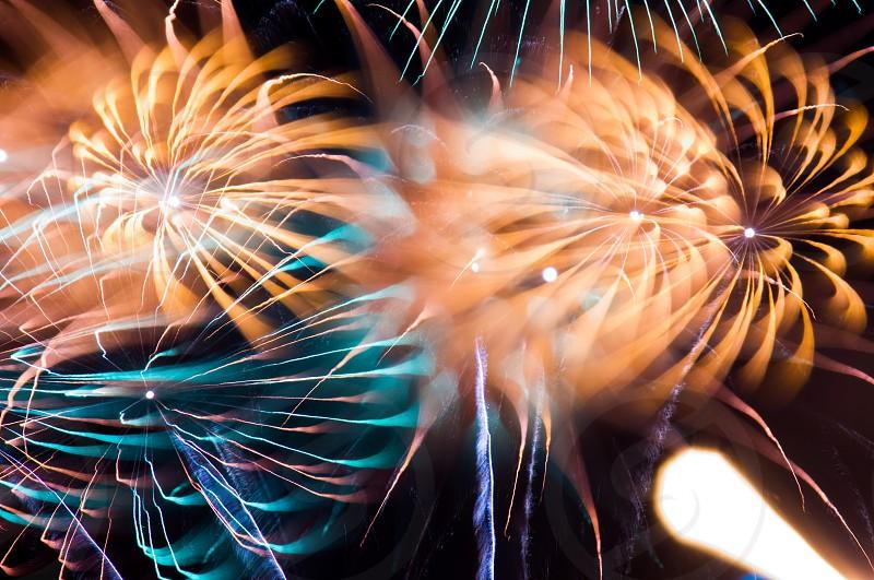 Focus-pulled Fireworks  Auburn WA 2013 photo