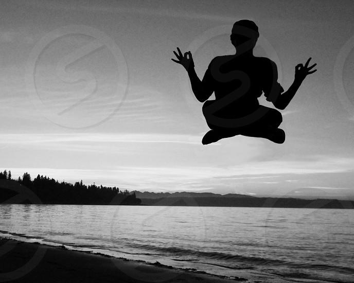 floating monk photo