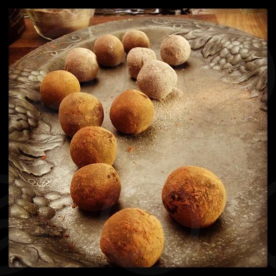 Powdered truffles photo