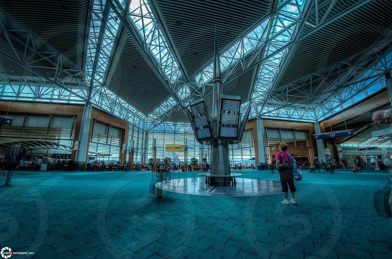 Oregon airport HDR.  photo