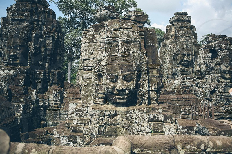 Cambodia Angkor Wat ruins monk Buddha Buddhist  photo