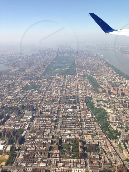 NYC from the air photo