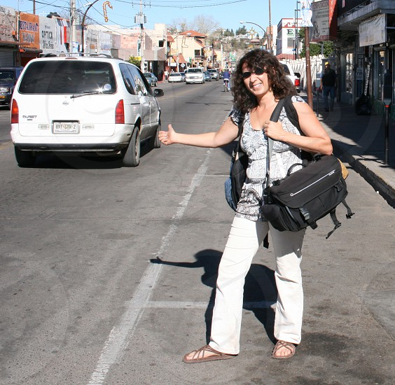 Hitchhiking in Mexico. photo