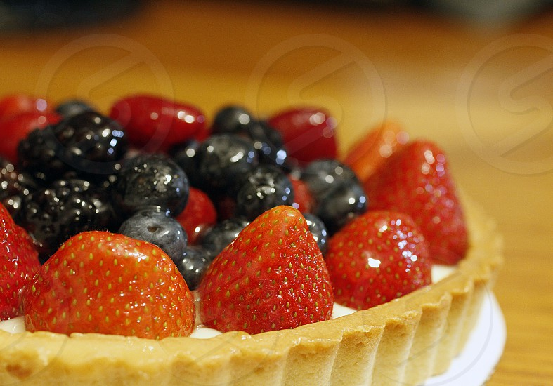 sweets fruit tarts strawberry tart blueberry tart blackberry tart dessert photo