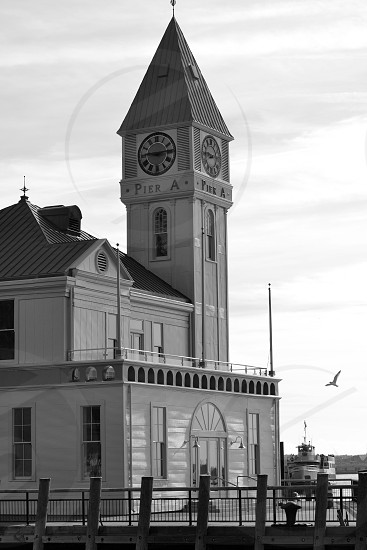 grayscale photography of building photo