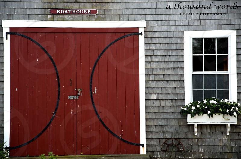 A classic boathouse in Nantucket Massachusetts. photo