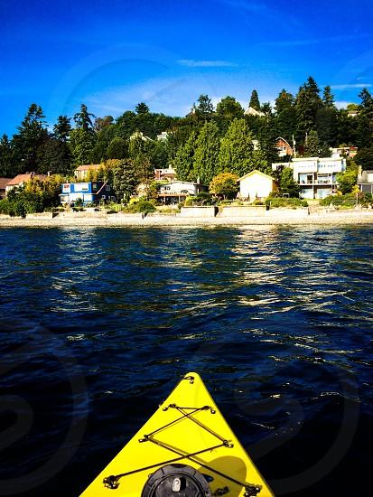 Kayaking kayak boat boating recreation Seattle Puget sound west  photo