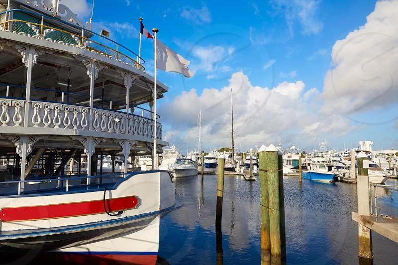 Fort Lauderdale marina boats in Florida USA photo