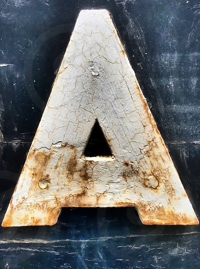 The letter A in capitals photo