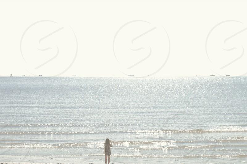 #girl #sea photo