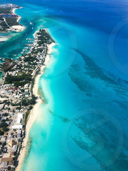 An aerial view of Bimini Bahamas photo