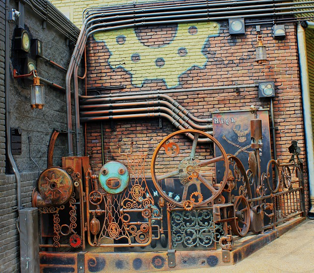 steampunk shapes faces ironworks photo