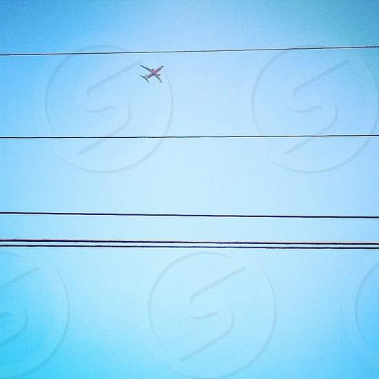 Plane airplane fly travel voyage flight flying trip sky photo