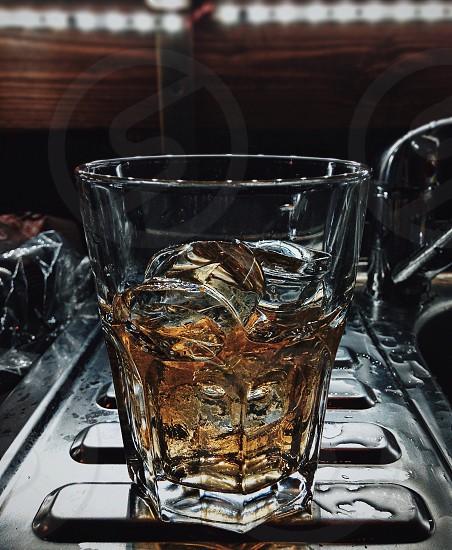 Glass of whiskey photo