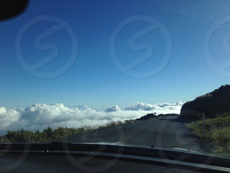Driving in the sky photo