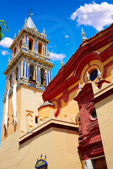 Triana barrio in Seville Santa Ana church andalusia Spain Sevilla photo