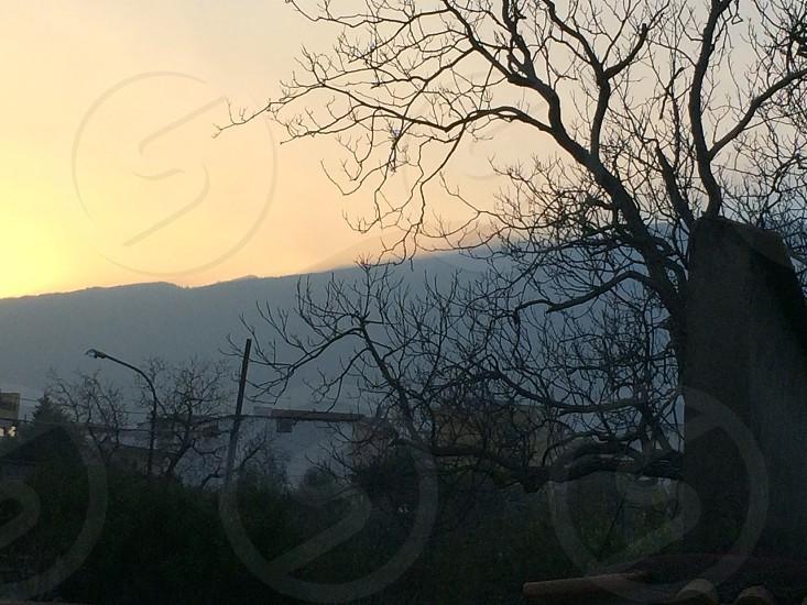 Vesuvius at sunset photo