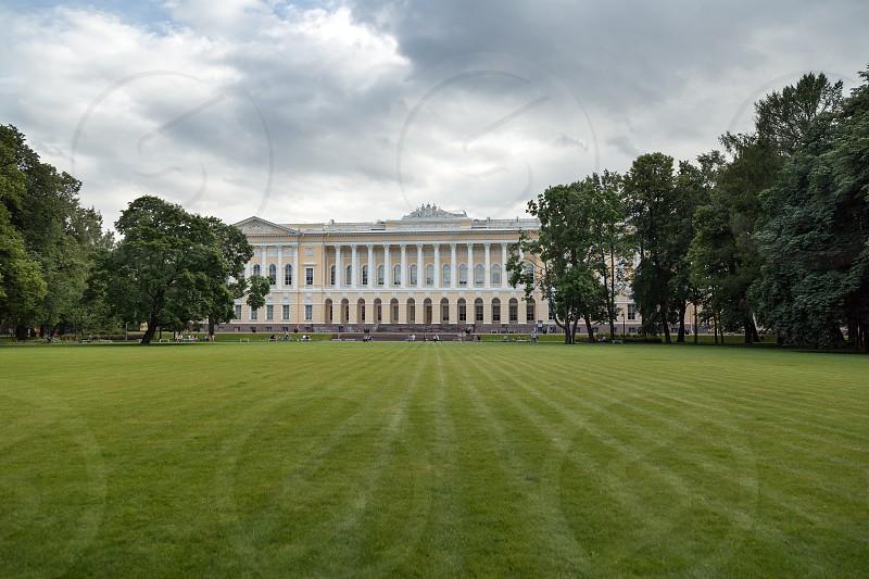 St. Petersburg . Russian Museum (Mikhailovsky Palace) View from Mikhailovsky garden . Summer 2017 photo