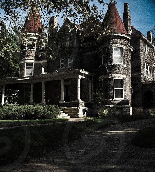 Mystery dark old house... photo