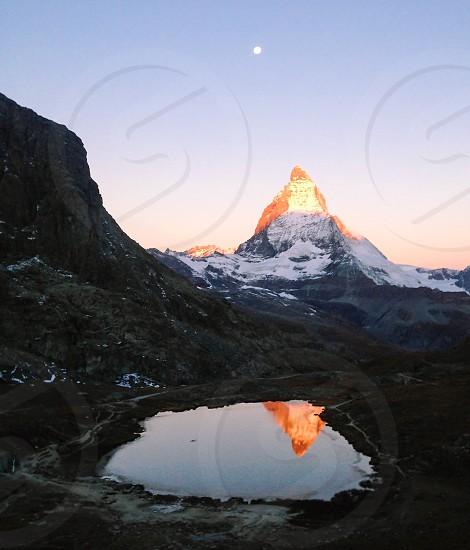 Mountain Alps lake reflection photo