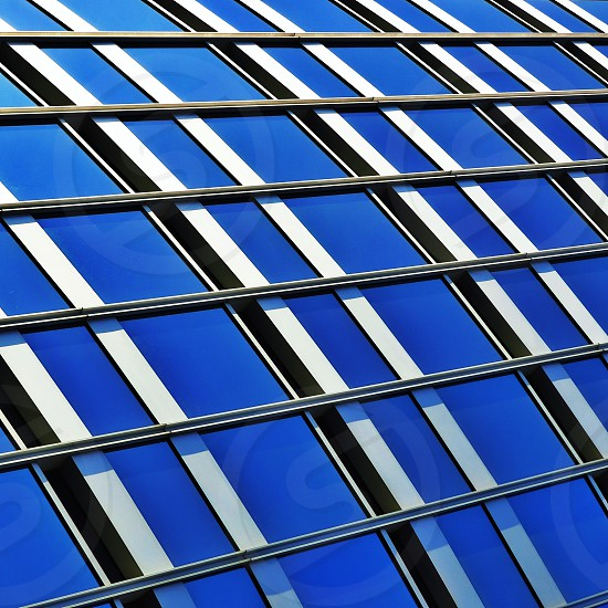glass high rise building windows photo