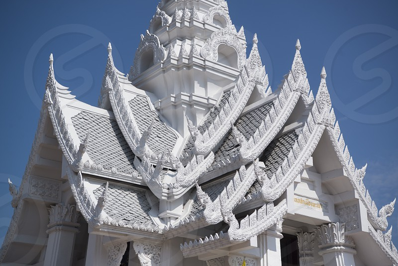 the city pillar shrine  in the city of Phayao in North Thailand. photo