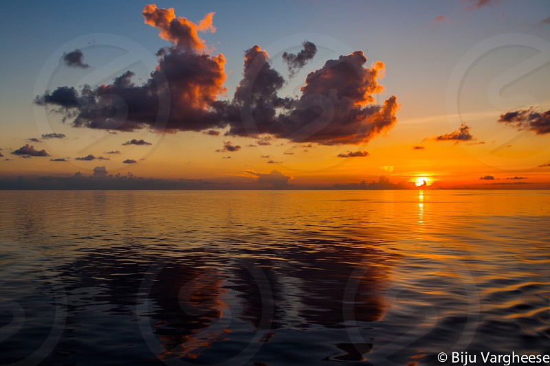 Sunset. Somewhere in western Caribbean... photo