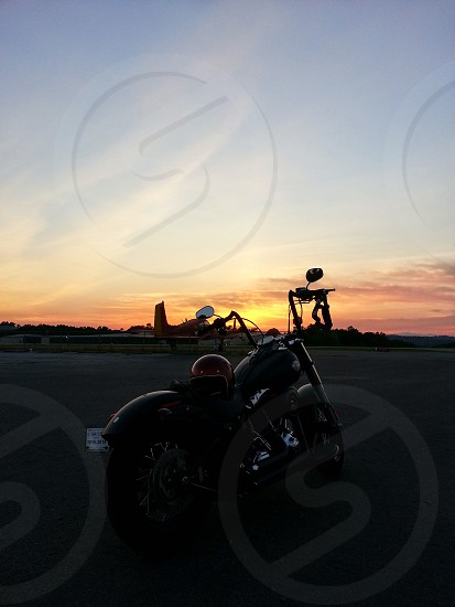 Harley Davidson. Airport.  photo
