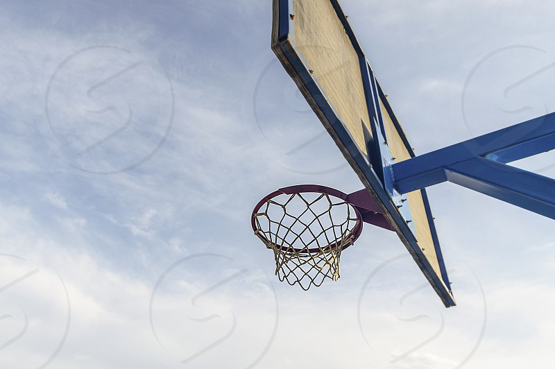 Basketball hoop basketball court photo