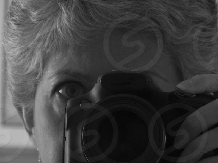 Self-Portrait - a camera-shy photographer photo