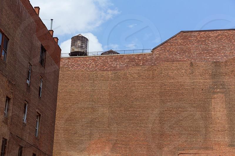 Soho buildings brickwall texture in Manhattan New York City NYC USA photo