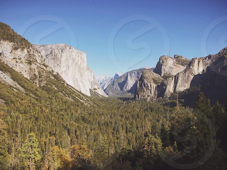 grey rocky mountain photo