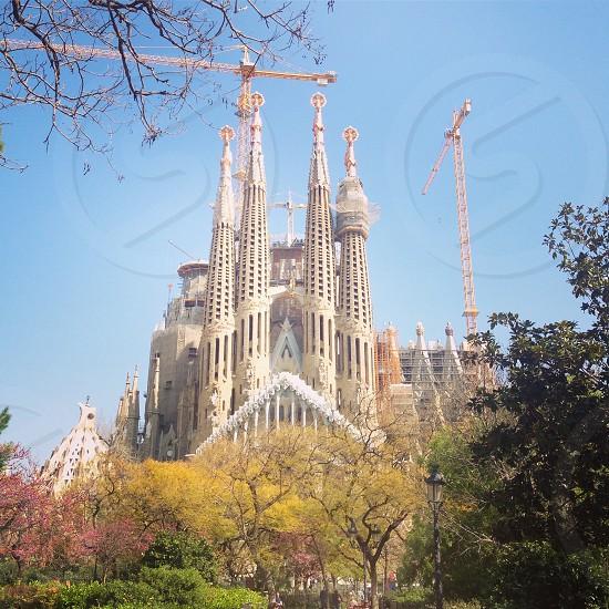 Barcelona spring primavera Gaudí sagrada familia  photo