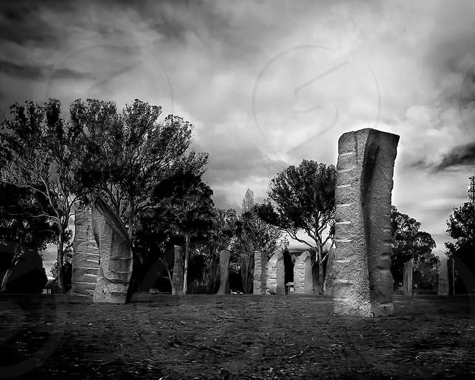 Glenn Innes standing stones photo