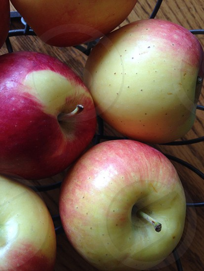 Delicious colorful apples photo